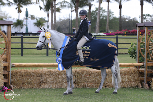 Emily Aitken and Woodlands Stevie Ray in their winning presentation.