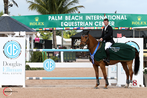 Shane Sweetnam in his winning presentation with a stand-in mount.