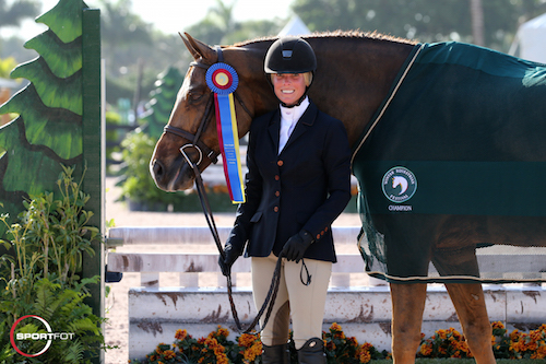 Imagine and Garland Alban in their championship presentation.