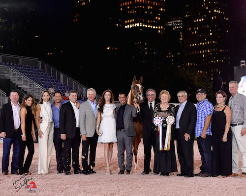 Handler Michael Byatt led three horses to gold medals  in Wednesday night's Arabian U.S. Open competition.