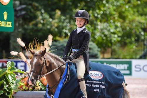 Last year's Pony Hunter Classic winners, Sophie Gochman and Bit of Love.