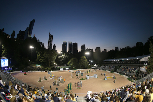 It was a sold out crowd on Friday evening to watch the Rolex Central Park Horse Show at Wollman Rink.