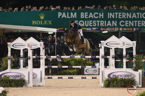 Olympic silver medalists McLain Ward and HH Azur at PBIEC.