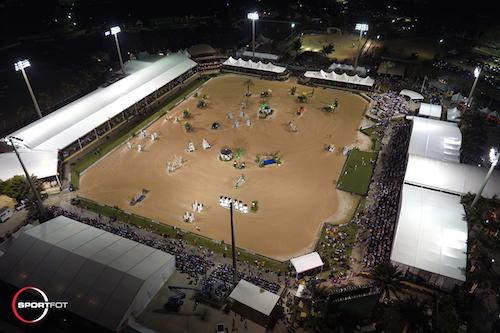 The main International Arena at Palm Beach International Equestrian Center.