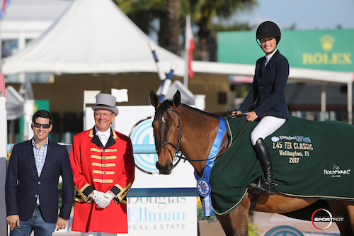 Jessica Springsteen and Davendy S in their winning presentation with Brooke Snader of Douglas Elliman Real Estate and ringmaster Steve Rector.