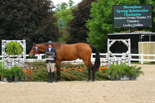 Lesley Quillen and Timeless in their championship presentation