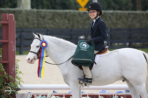 Emma Pell and Wink and Smile in their championship presentation